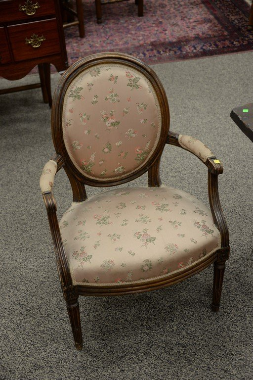 Two Louis XVI fautoil, one grey painted, 18th-19th - 5