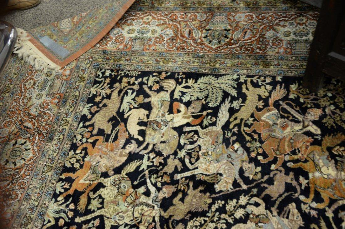 Persian Tabriz silk animal carpet, late 20th century. - 3