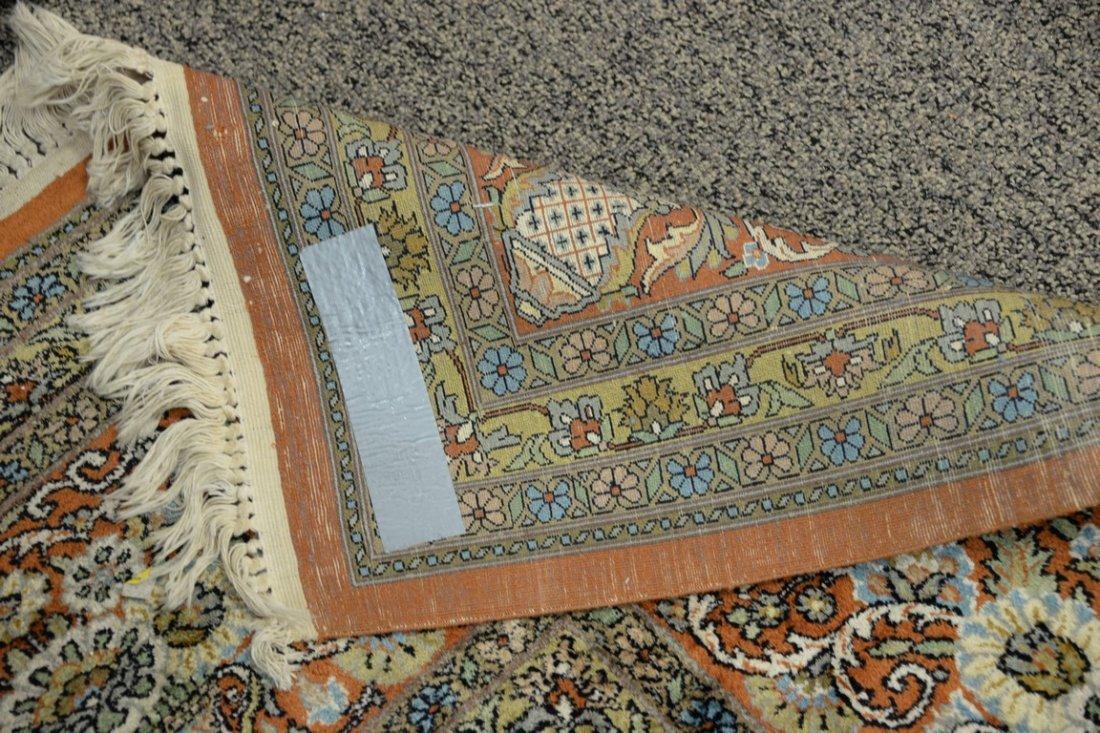 Persian Tabriz silk animal carpet, late 20th century. - 4