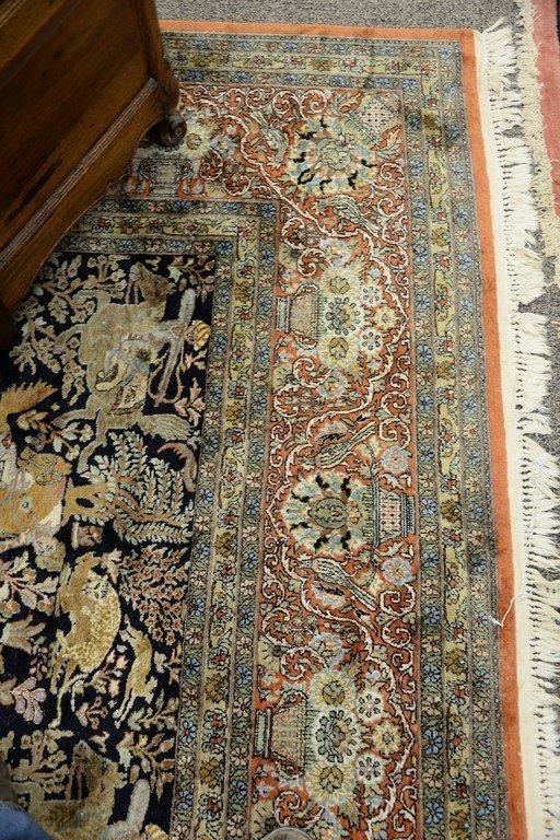 Persian Tabriz silk animal carpet, late 20th century. - 5