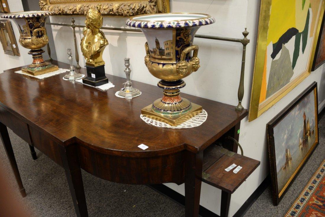 George III mahogany sideboard having brass gallery on - 3