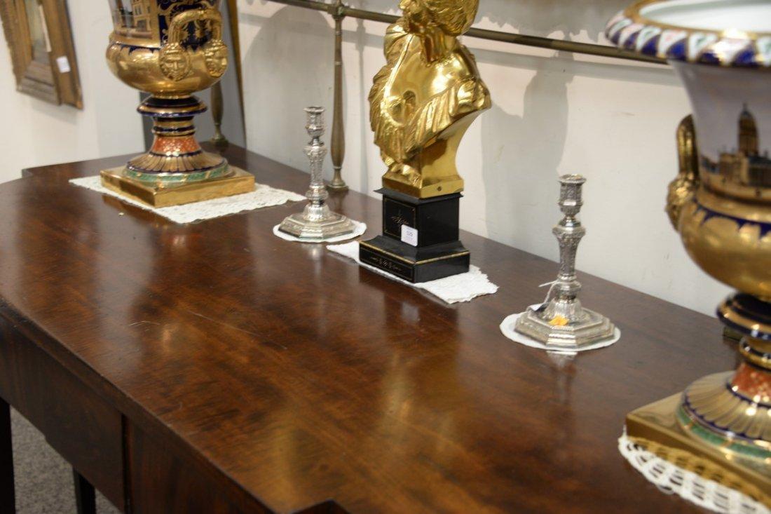 George III mahogany sideboard having brass gallery on - 4