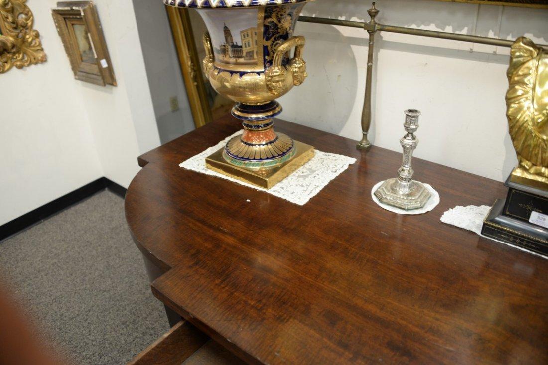 George III mahogany sideboard having brass gallery on - 7