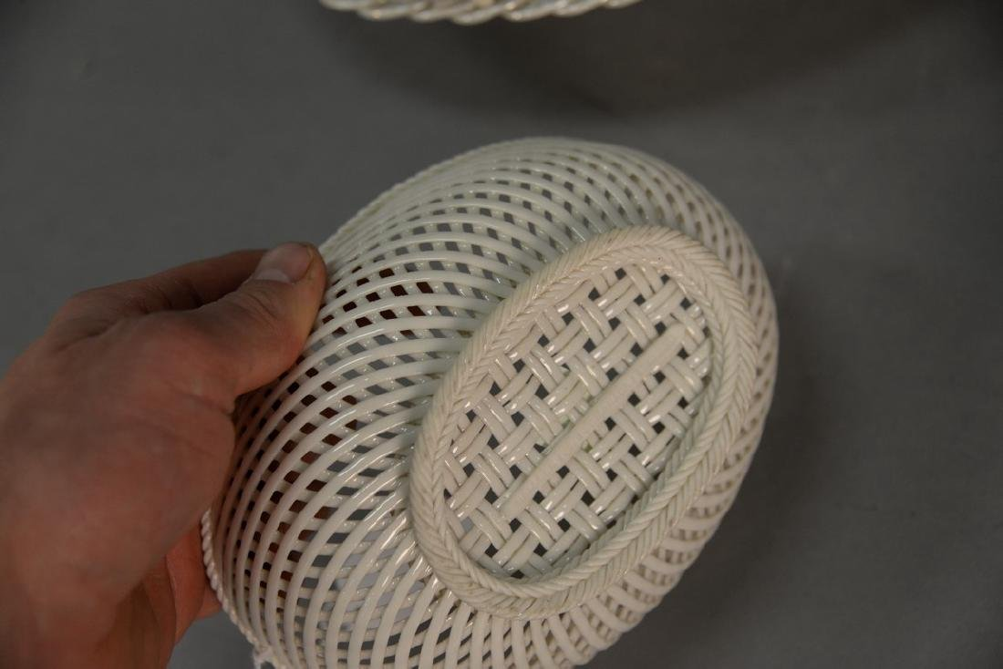 Four Belleek baskets, three Belleek strand baskets - 10