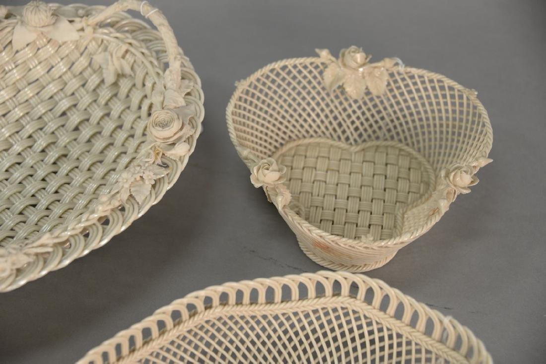 Four Belleek baskets, three Belleek strand baskets - 5