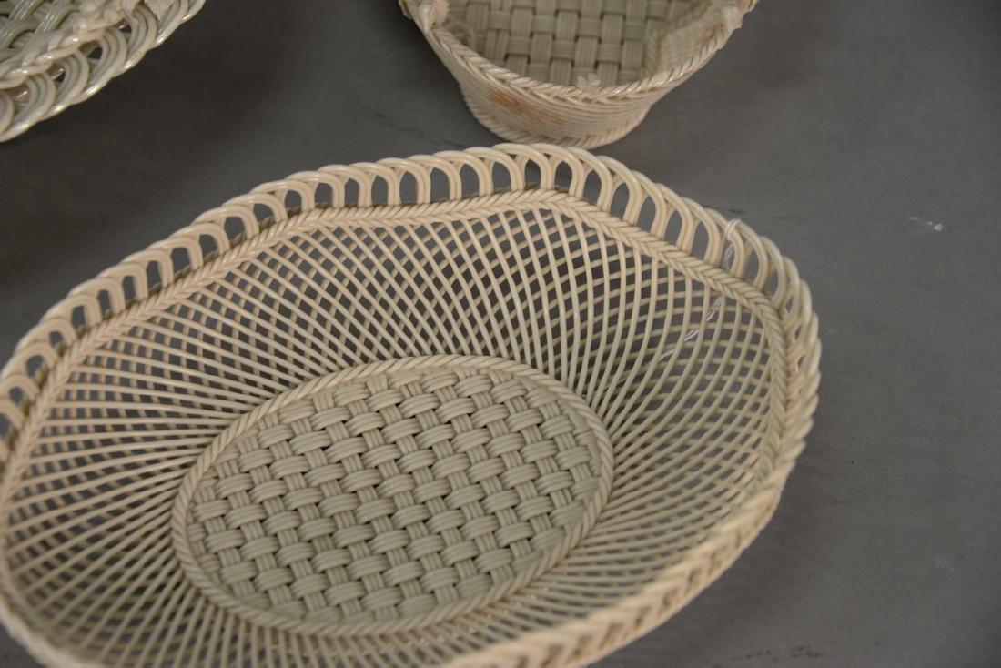 Four Belleek baskets, three Belleek strand baskets - 6