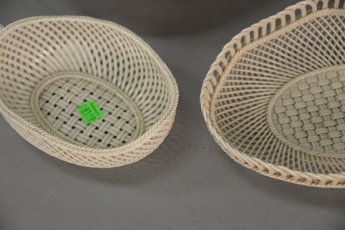 Four Belleek baskets, three Belleek strand baskets - 7