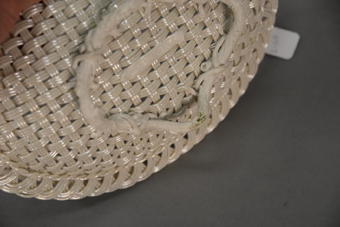 Four Belleek baskets, three Belleek strand baskets - 9