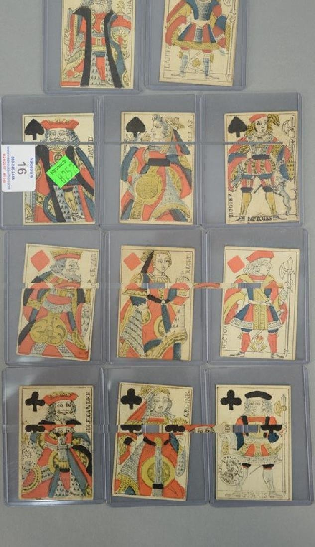Early French playing cards, set of twelve with Kings,