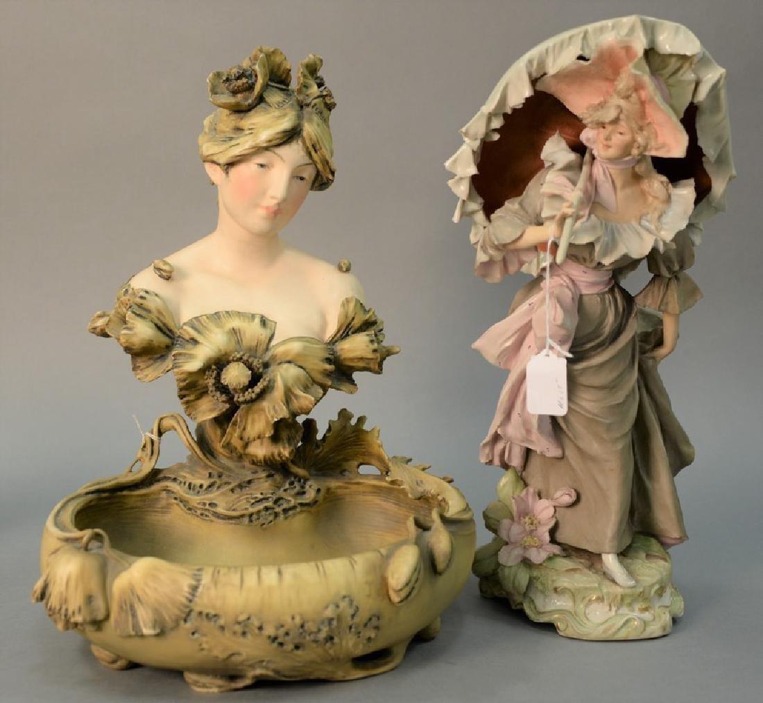 Two porcelain figures including Royal Dux Bohemia