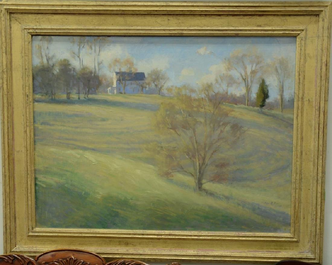"Peggy N. Root (1987) oil on masonite ""Lyme House on a"