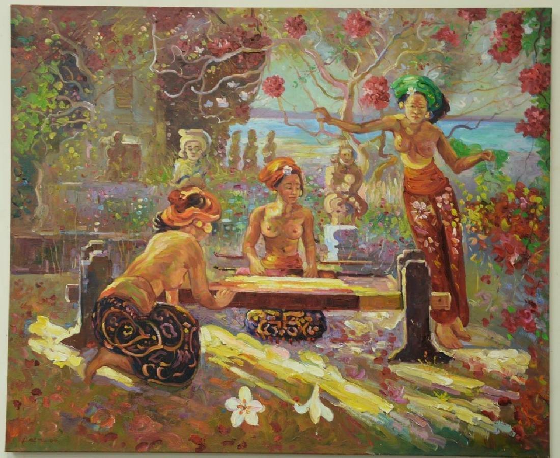 Laemthong Phramphran (21st Century), oil on canvas,