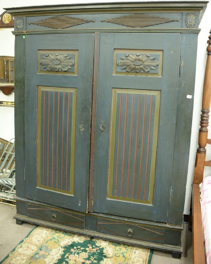 Two door paint decorated armour (no back) ht. 87