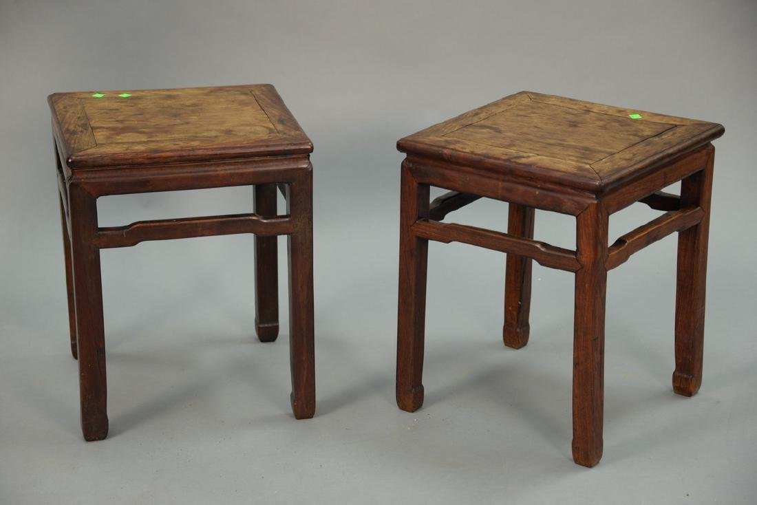 Pair of Chinese hardwood stands, 19th century or