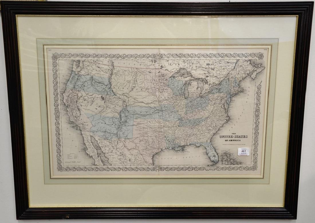 Two hand colored engraved double page large folio maps