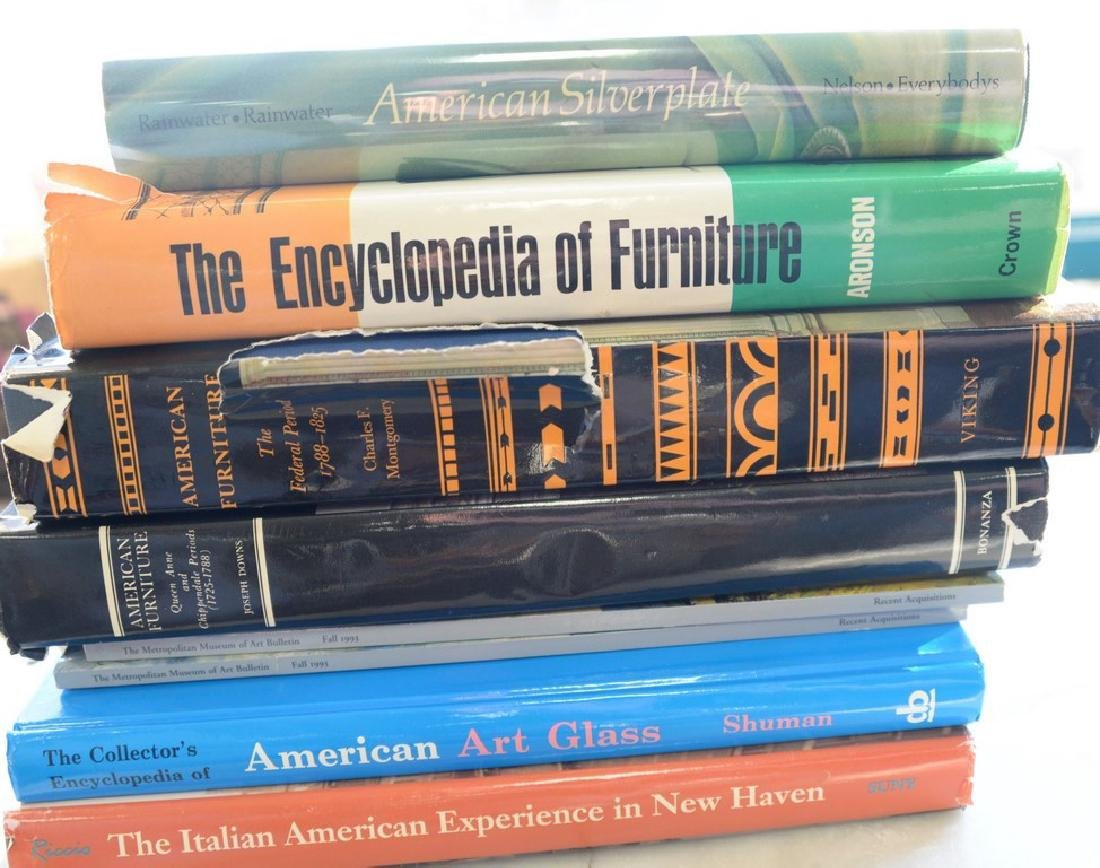 Six boxes of coffee table and reference books including
