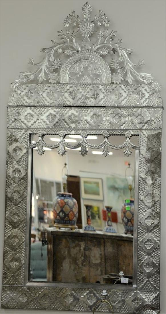 """Two metal framed mirrors, 65"""" x 33"""" and 27"""" x 23"""""""