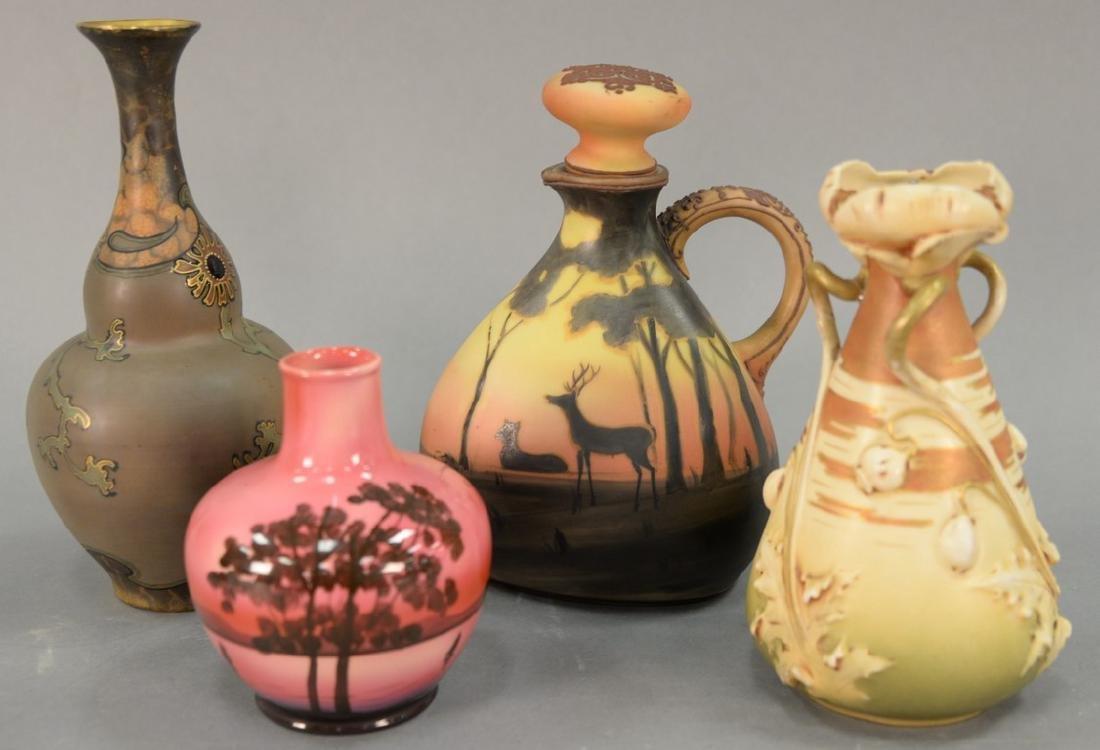 Four porcelain vases to include Turn Teplitz, Turn