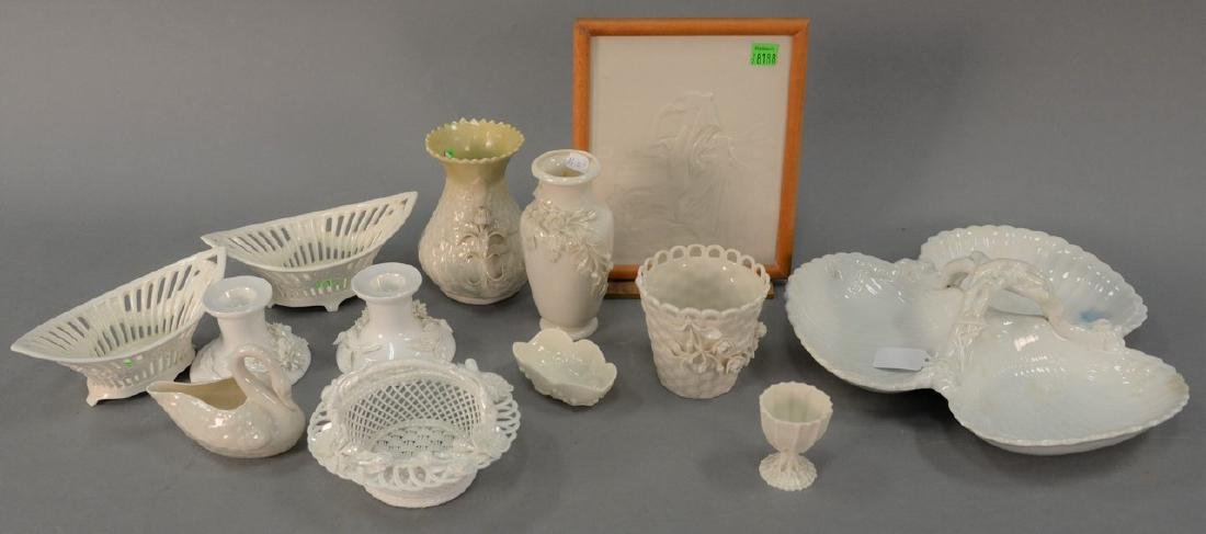 Group of Belleek and miscellaneous porcelain to include