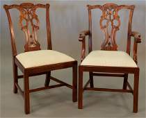 Maitland Smith set of eight Chippendale style dining