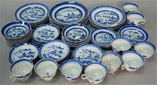 Fifty piece group of Chinese export porcelain Nanking