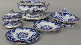 English flow blue Copeland & Garrett stone china,