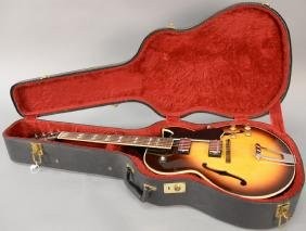 Gibson guitar ES 175D, serial number 968007 along with