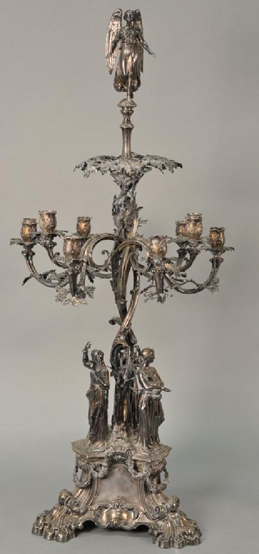 Edward and John Barnard English silver candelabra
