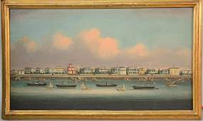 Chinese School, 19th Century oil on paper mounted on
