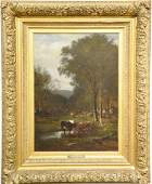 James McDougal Hart 18281901  oil on canvas  Cows in