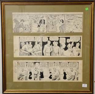 Triptych of comics, Al Capp L'il Abner Frank King,