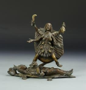 Chinese Tibetan Mythical Deity Figure