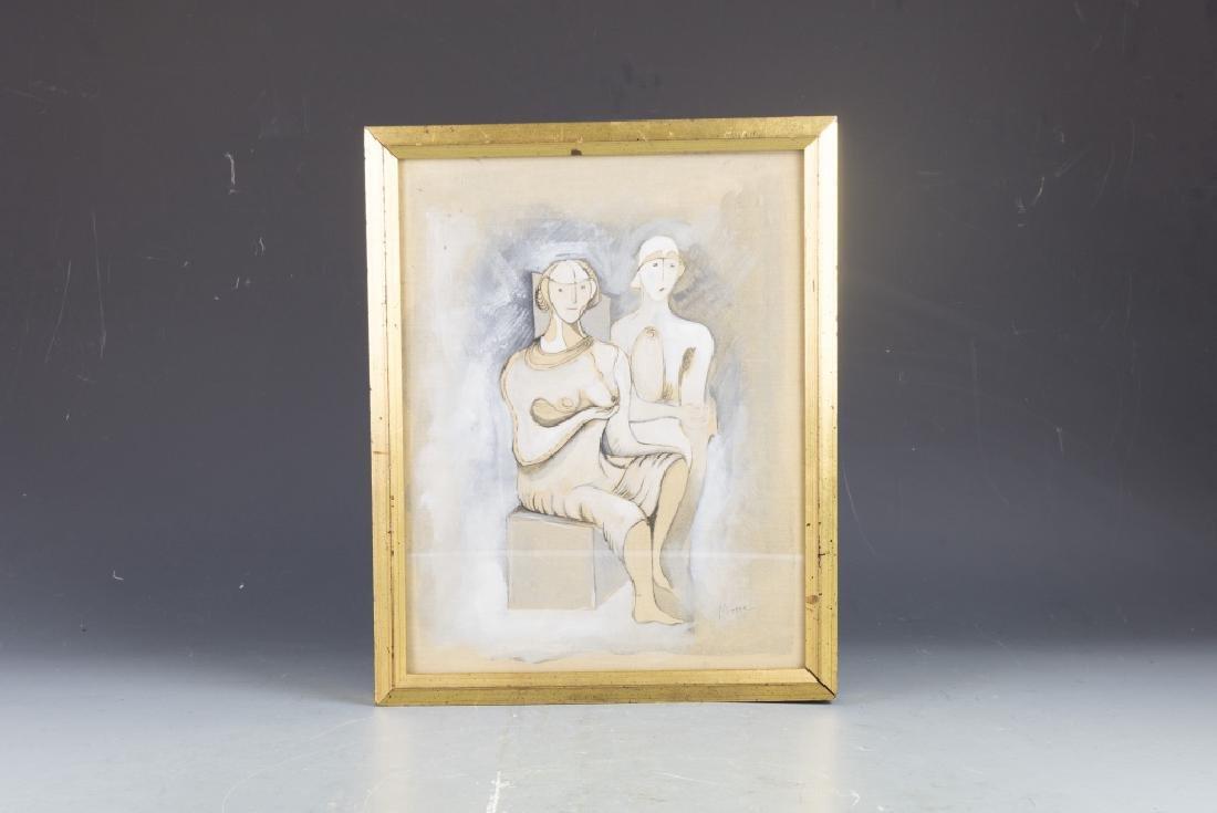 Henry Moore Figure Painting