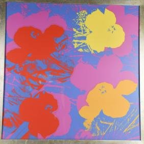"Andy Warhol ""flowers"" Screenprint"