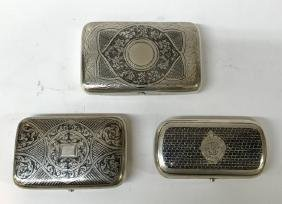 Three Russian Silver Boxes
