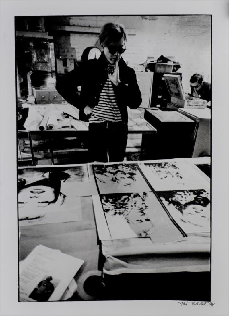 Nat Finkelstein Photograph of Andy Warhol