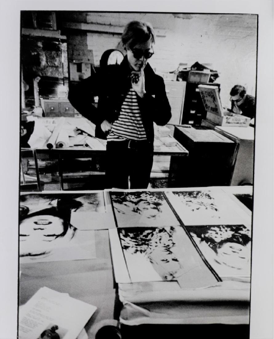 Nat Finkelstein Photograph of Andy Warhol - 2