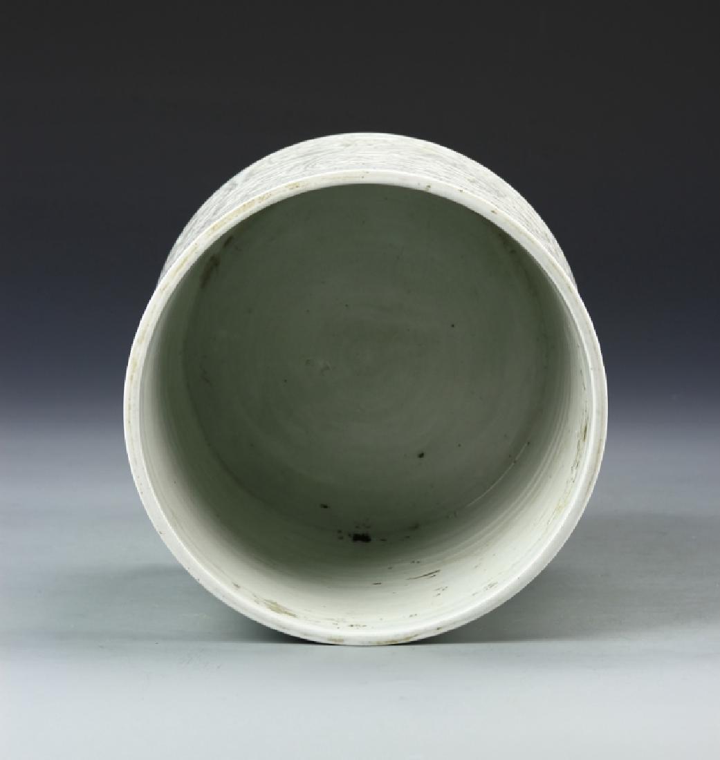 Chinese Celadon Brush Pot - 4