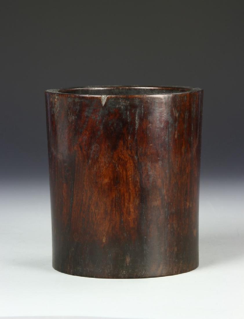 Chinese Huanghuali Brush Pot - 3