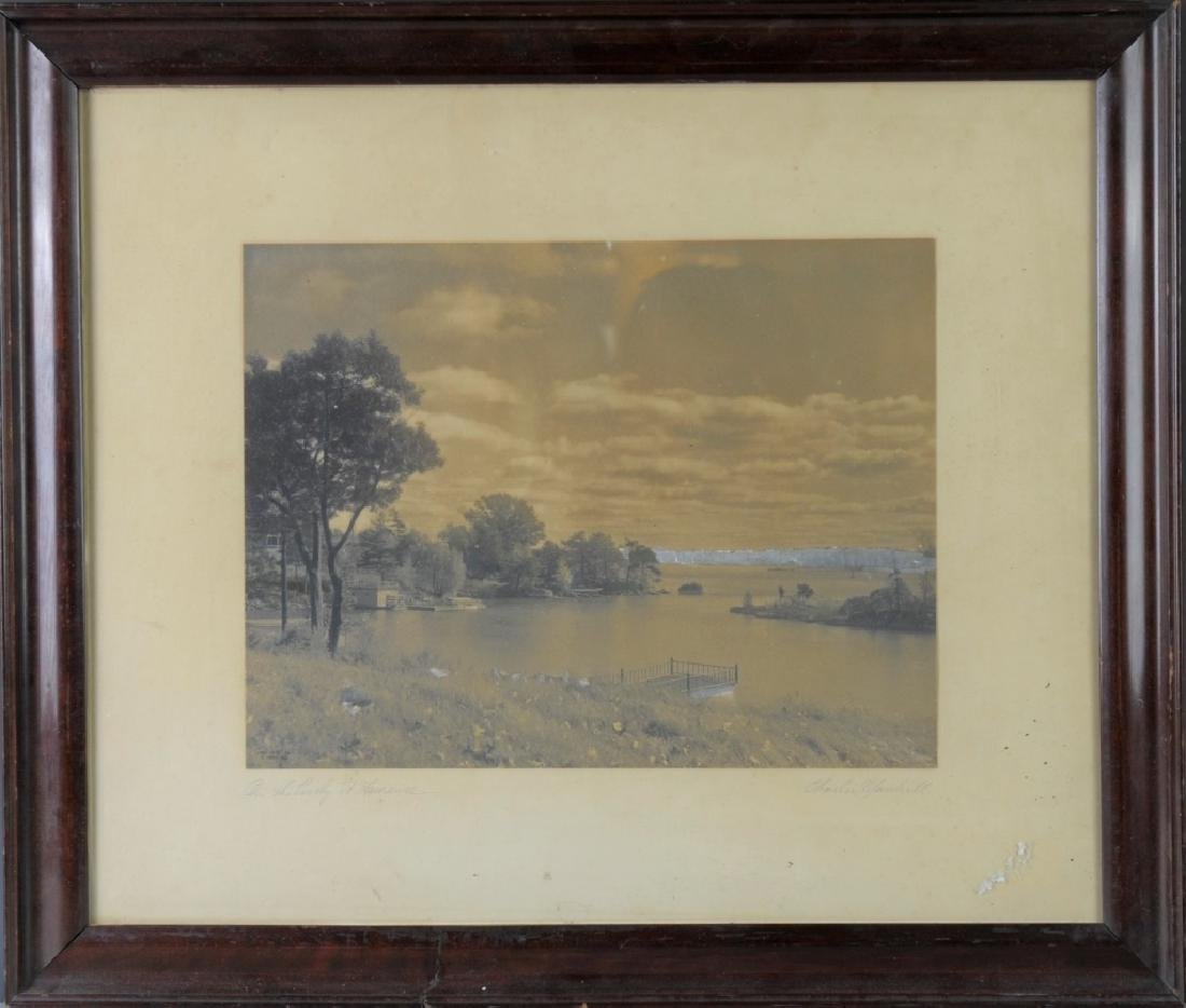 Vintage Photograph of a River Scene