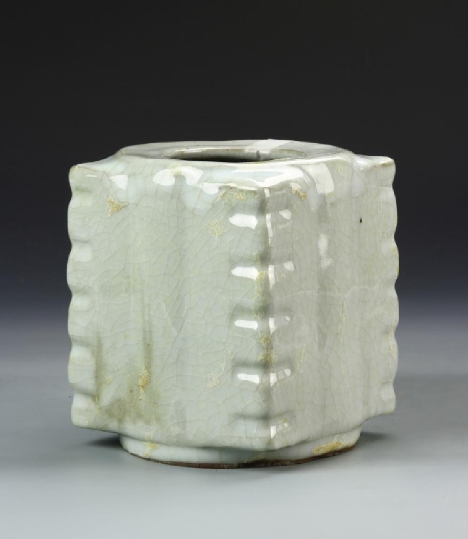 Chinese Celadon Cong Vase