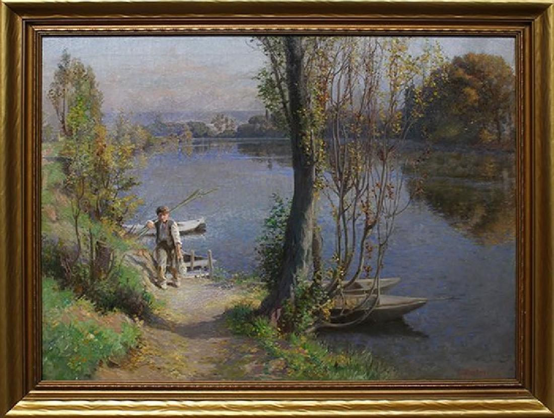 Oil on Canvas, Signed Eugen Gustav Duecker