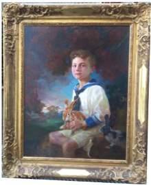 Oil on Canvas, Nikolai Petrovich Bogdanov Belski