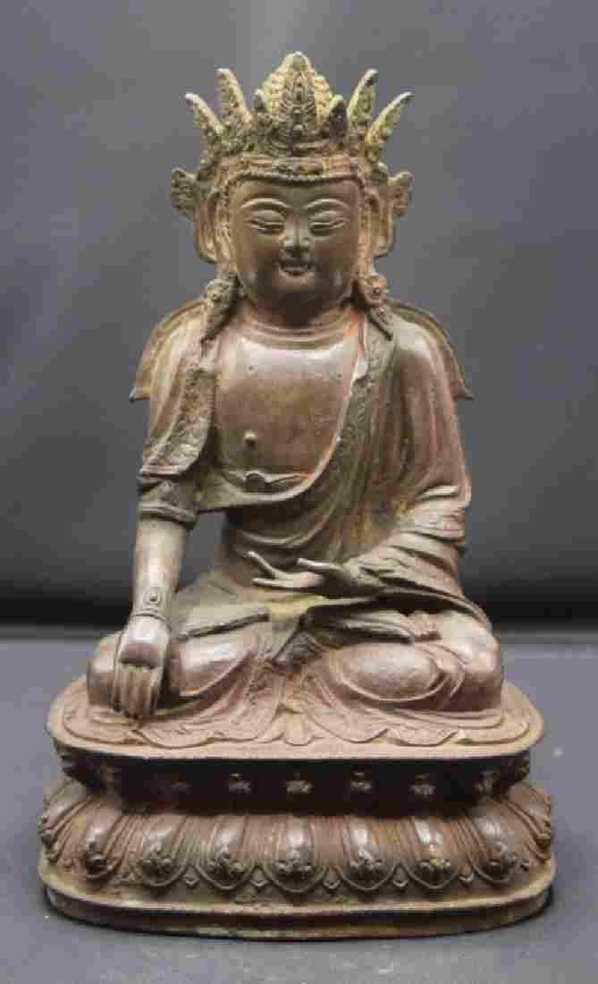 Chinese Seated Bronze Buddha Statue