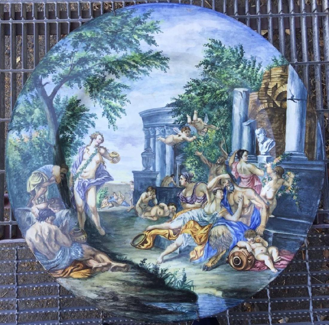 Massive Antique Italian Urbino Platter