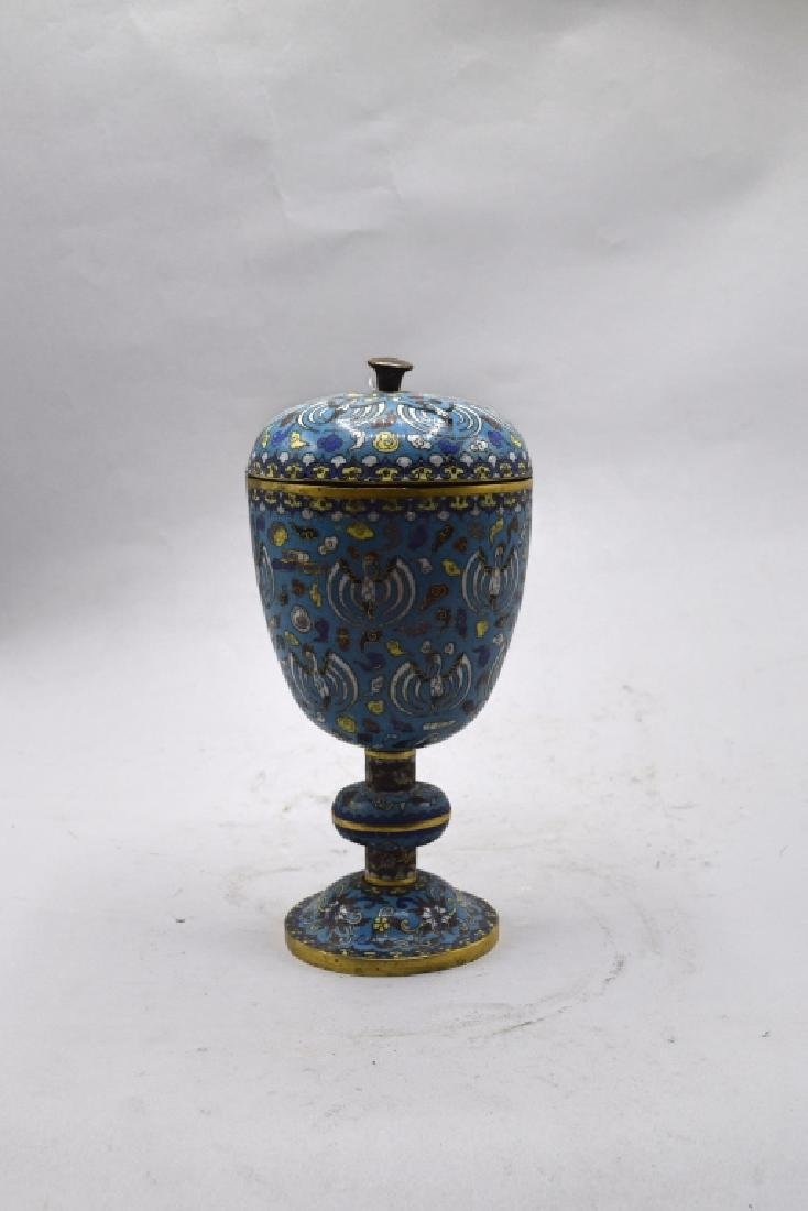 Chinese Cloisonne Lidded Urn
