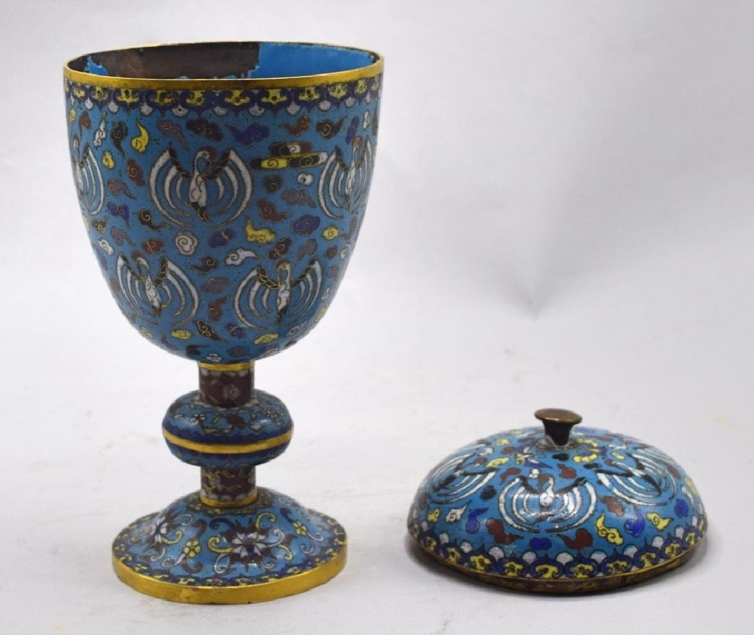 Chinese Cloisonne Lidded Urn - 4