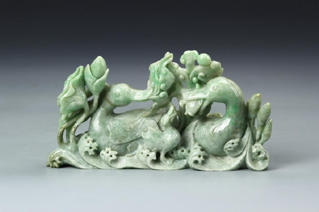 Chinese Jadeite Duck Boulder