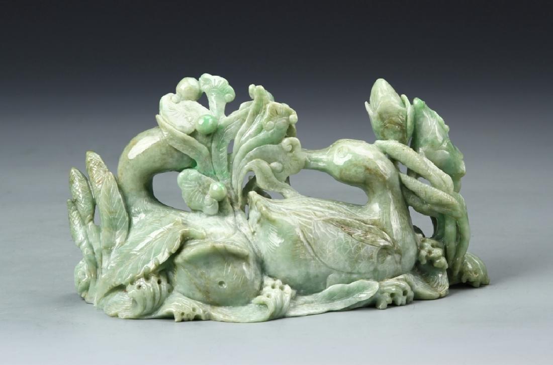 Chinese Jadeite Duck Boulder - 3
