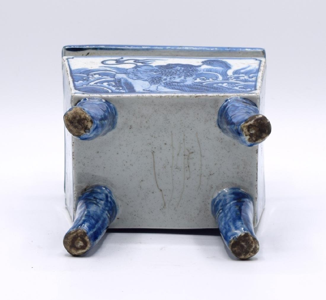 Chinese Blue and White Censer - 5
